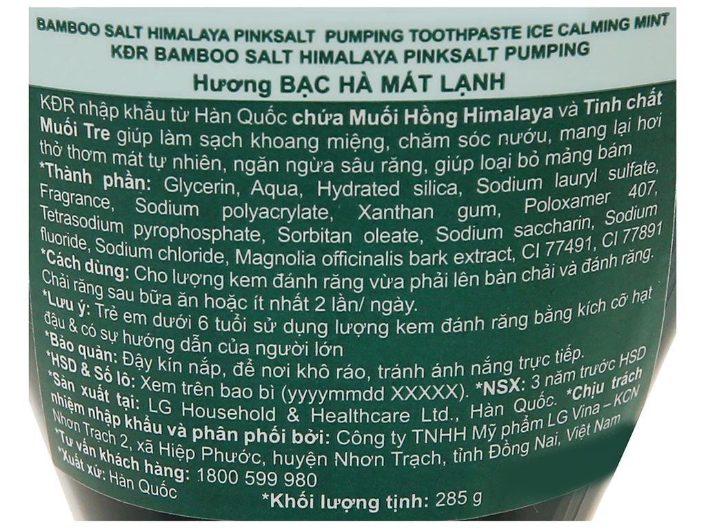 Kem đánh răng Bamboo Salt muối hồng Himalaya hương bạc hà 285g 3