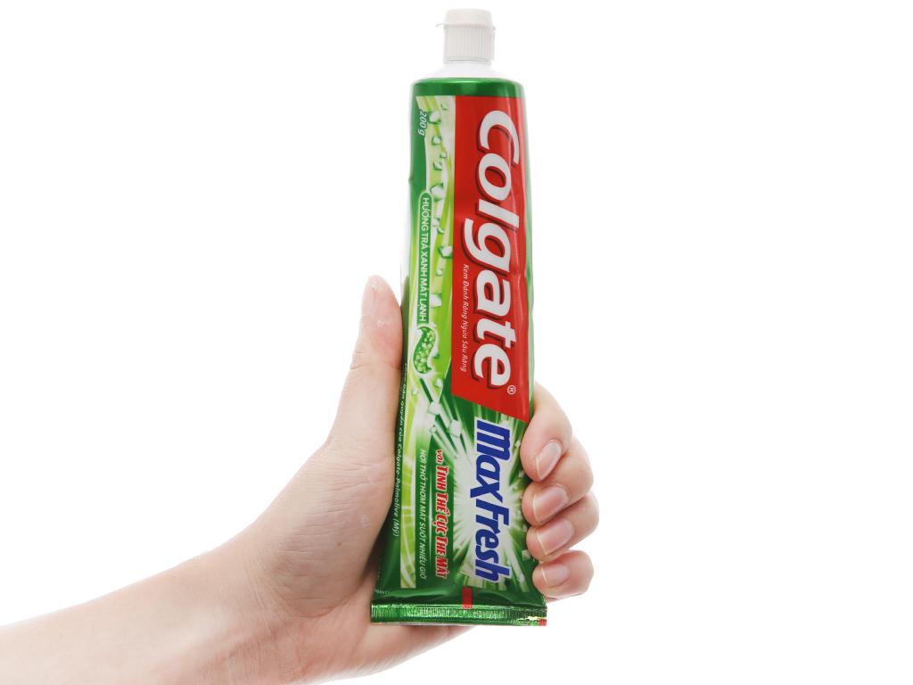Kem đánh răng Colgate MaxFresh trà xanh cực the mát 200g 5