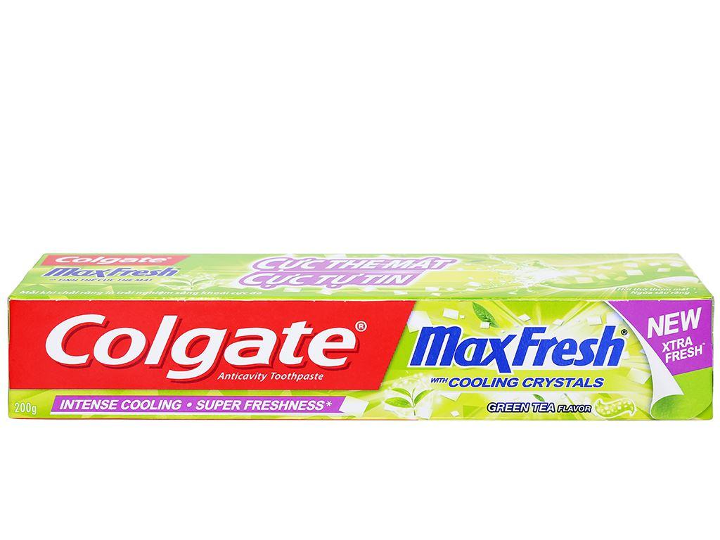 Kem đánh răng Colgate MaxFresh trà xanh 200g 2