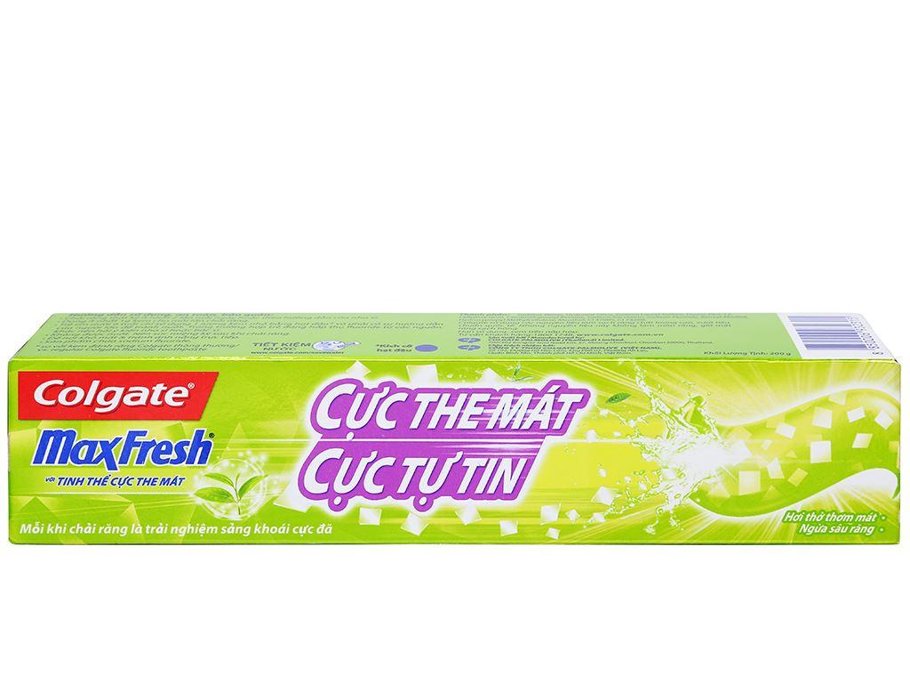 Kem đánh răng Colgate MaxFresh trà xanh 200g 3