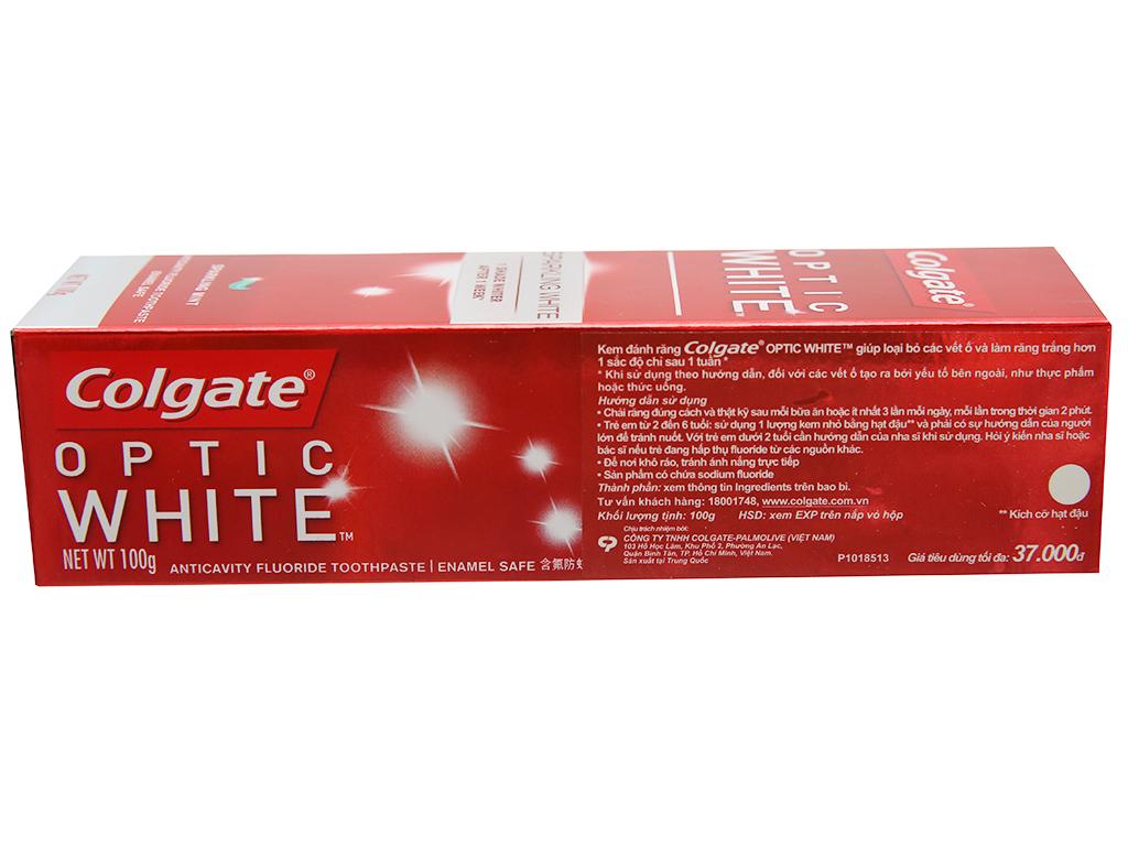 Kem đánh răng Colgate Optic White 100g 3
