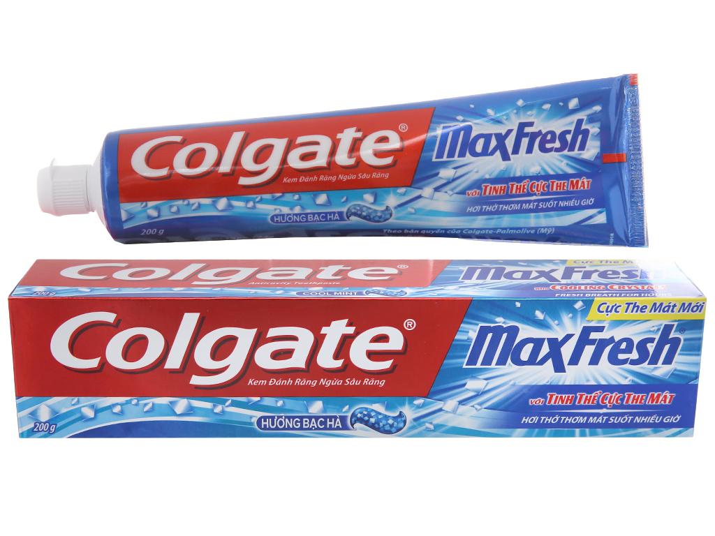 Kem đánh răng Colgate Maxfresh hương bạc hà 200g 2