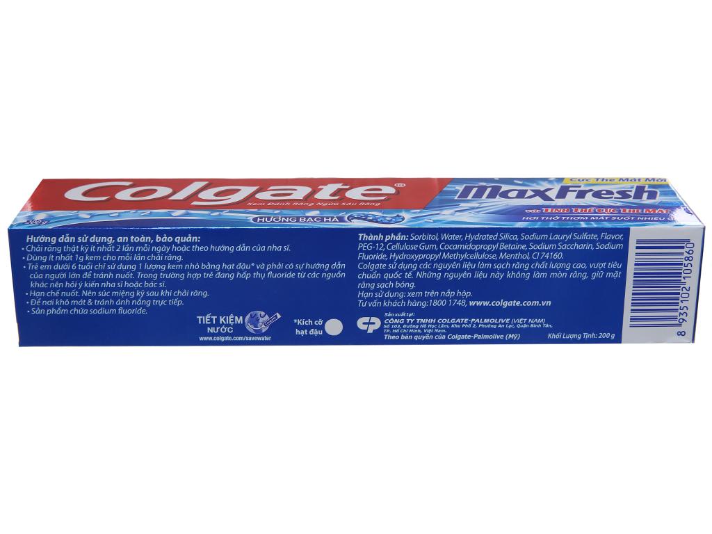 Kem đánh răng Colgate Maxfresh hương bạc hà 200g 3