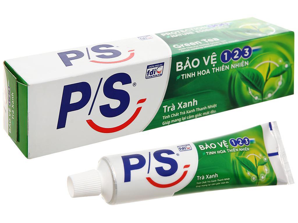 Kem đánh răng P/S bảo vệ 123 trà xanh thanh nhiệt 100g 1