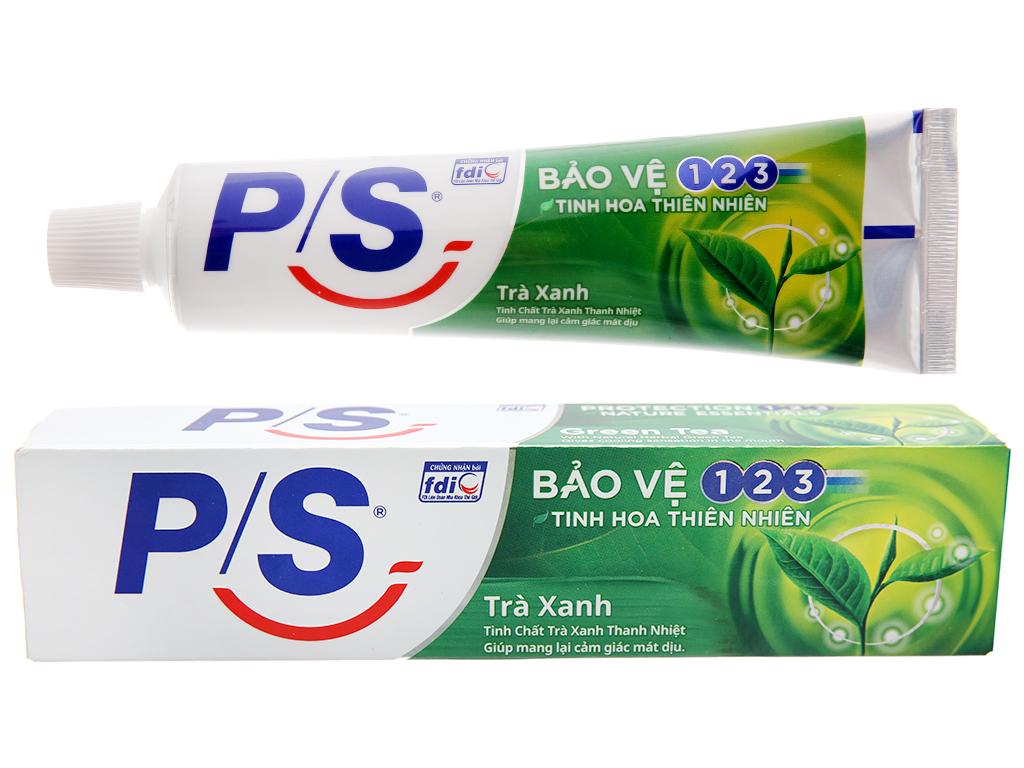 Kem đánh răng P/S bảo vệ 123 trà xanh thanh nhiệt 100g 2