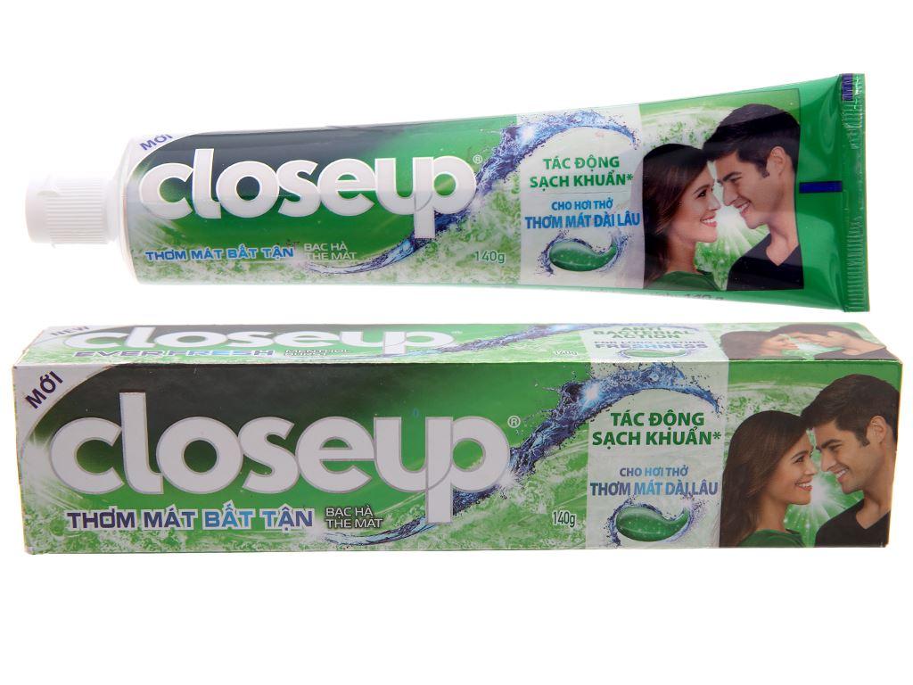 Kem đánh răng Closeup bạc hà thơm mát bất tận 140g 2