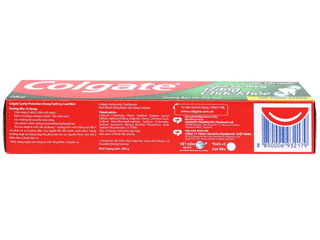 Kem đánh răng Colgate ngừa sâu răng chắc khoẻ 200g 3