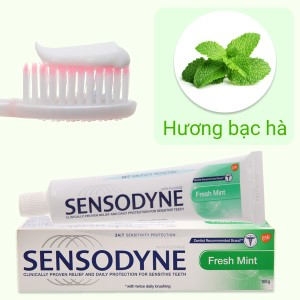 Kem đánh răng Sensodyne Fresh Mint giảm ê buốt 24/7 100g