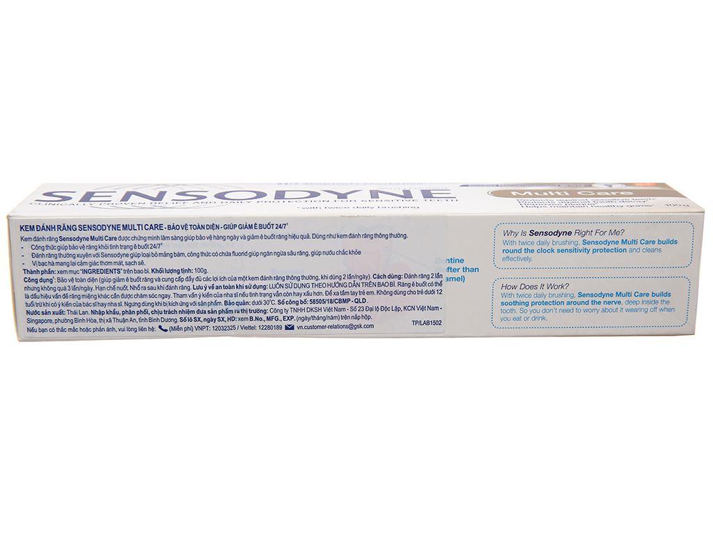 Kem đánh răng Sensodyne Multi Care bảo vệ toàn diện 100g 3