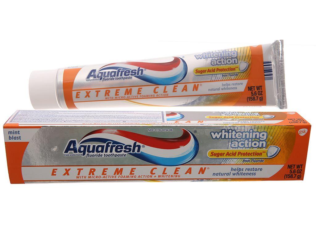 Kem đánh răng Aquafresh trắng răng bạc hà thơm mát 158.7g 2
