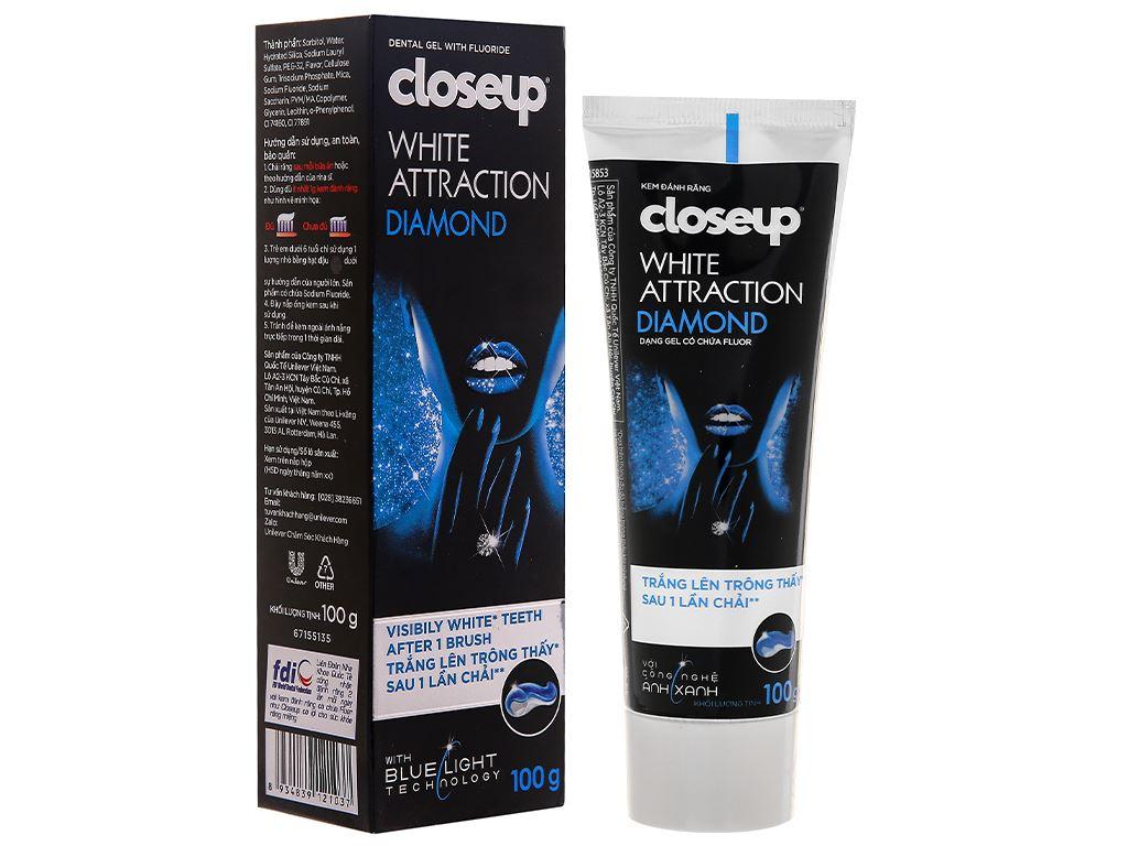 Kem đánh răng Closeup White Attraction Diamond 100g 1