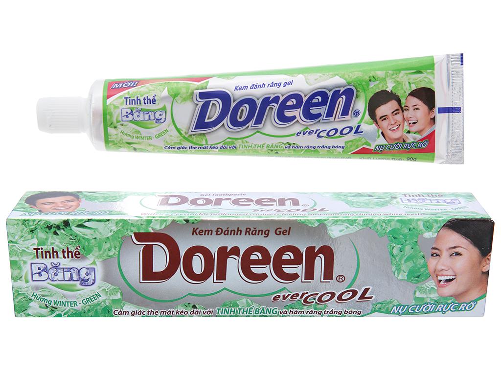 Kem đánh răng Doreen trắng răng tinh thể băng 90g 1
