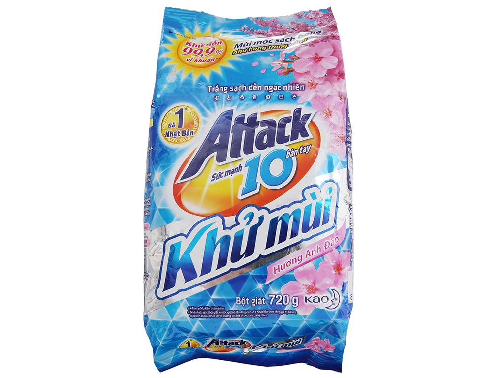 Bột giặt Attack Khử mùi hương Hoa anh đào 720g 2