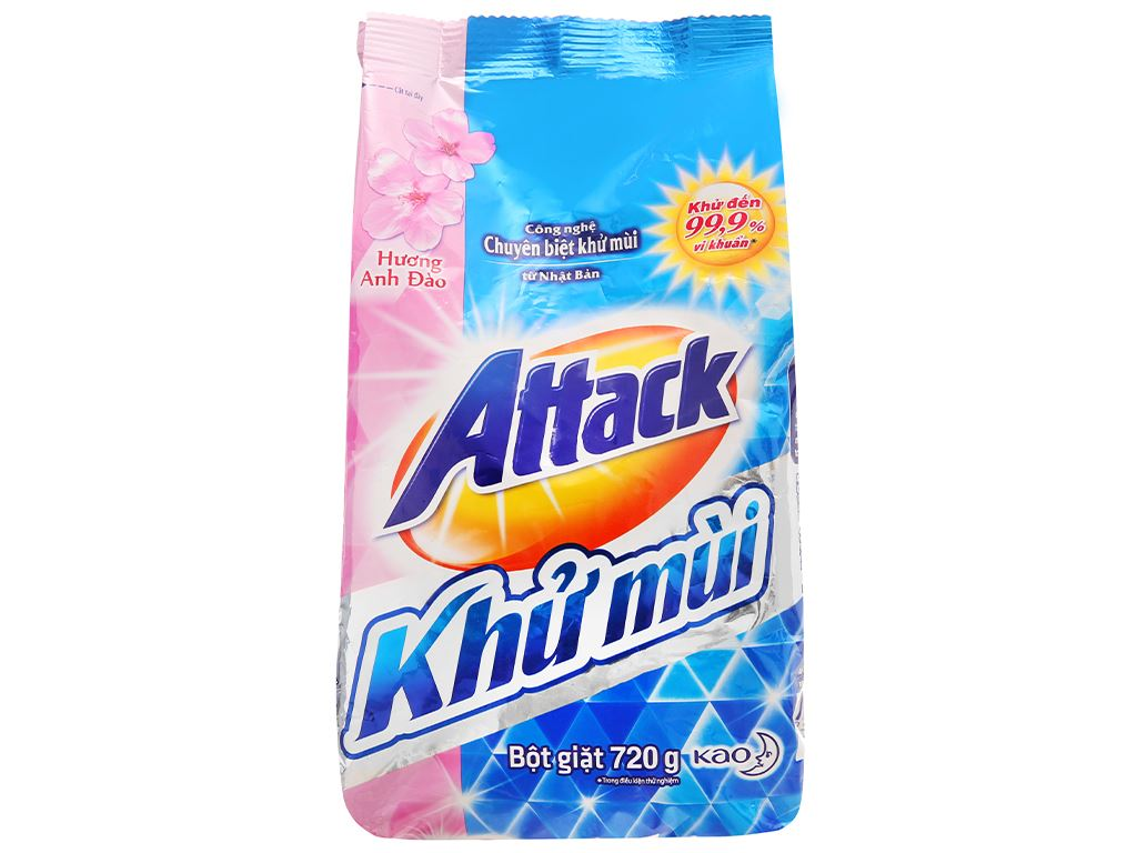 Bột giặt Attack khử mùi hương anh đào 720g 1