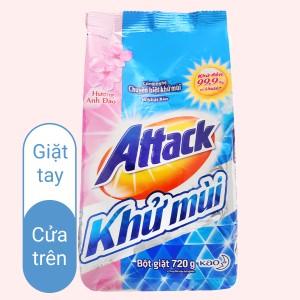 Bột giặt Attack khử mùi hương anh đào 720g