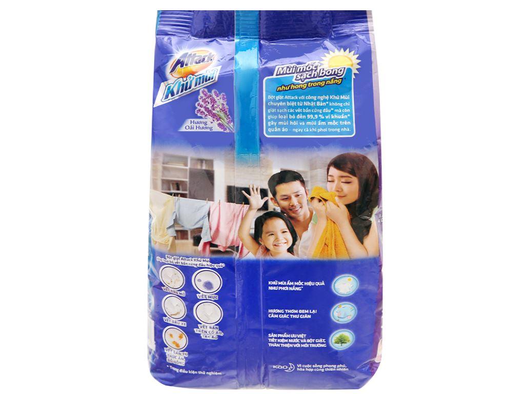 Bột giặt Attack khử mùi hương oải hương 720g 2