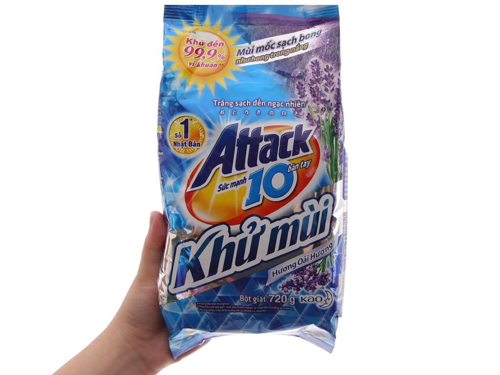 Bột giặt Attack Khử mùi hương Oải hương 720g 5