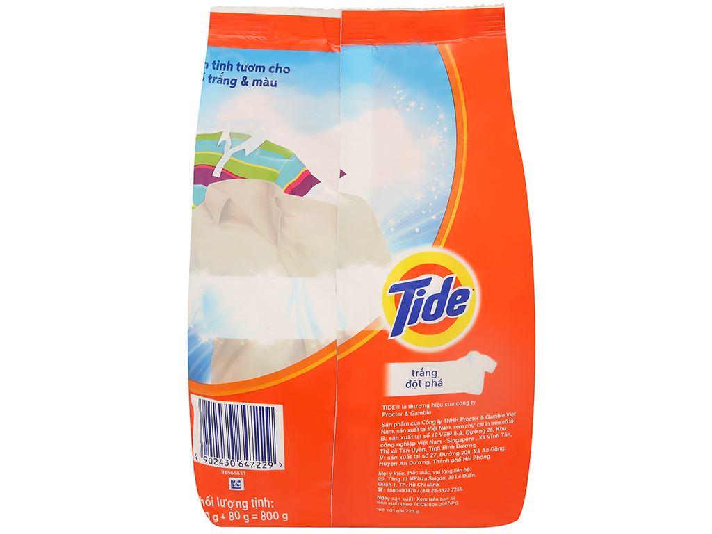 Bột giặt Tide trắng đột phá 720g 2