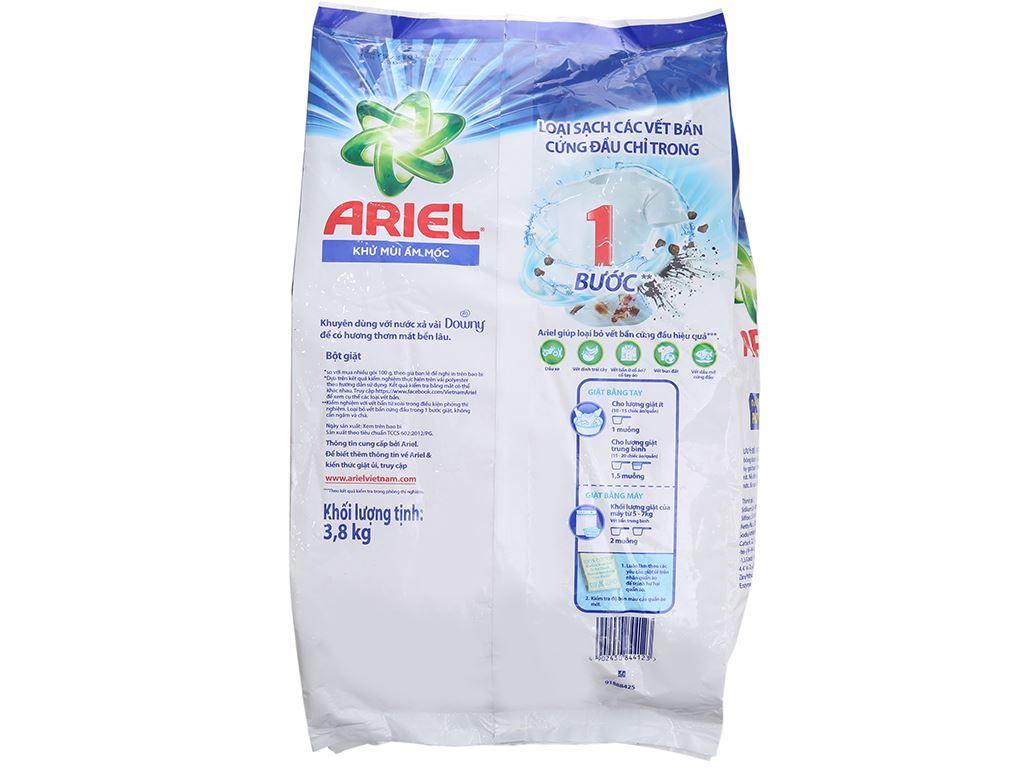 Bột giặt Ariel Khử mùi ẩm mốc 3.8kg 3