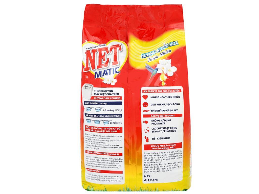 Bột giặt NET Matic hương nước hoa thiên nhiên 6kg 3
