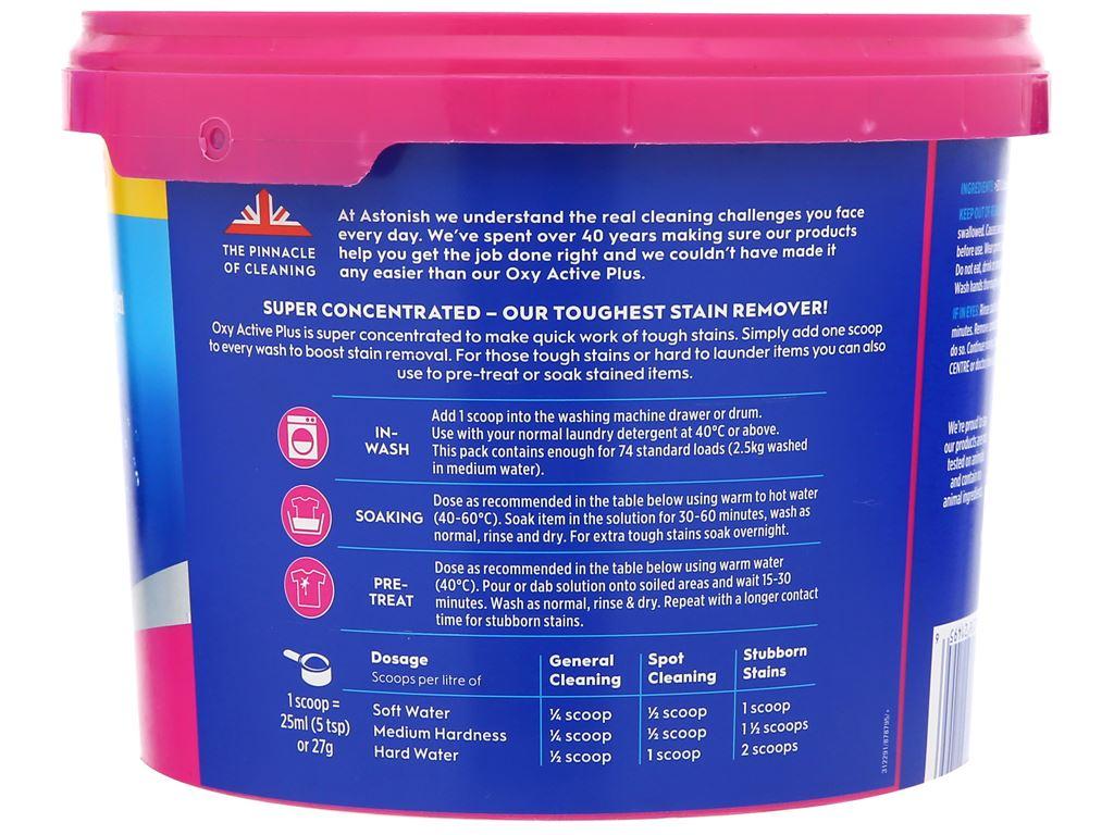 Bột giặt Astonish Oxy Active Plus 2kg 2
