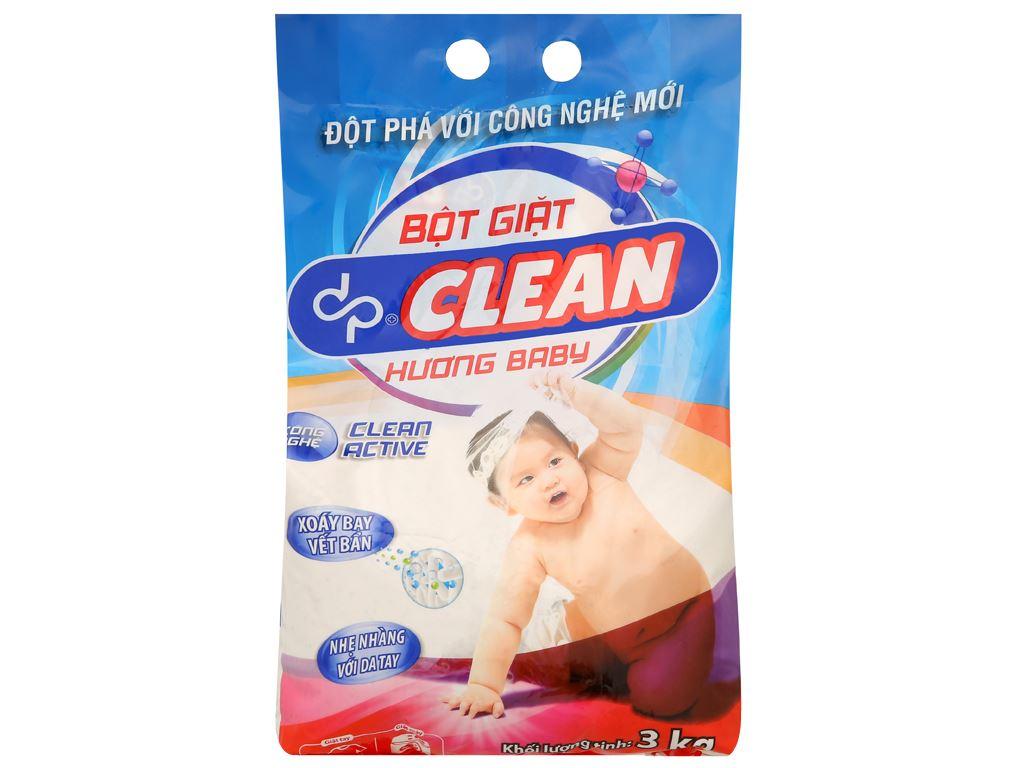 Bột giặt dp CLEAN hương baby 3kg 1
