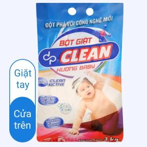 Bột giặt dp CLEAN hương baby 3kg