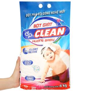 Bột giặt dp CLEAN hương baby 6kg