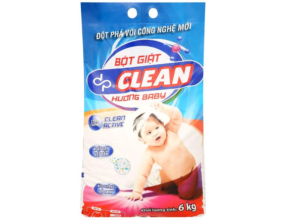 Bột giặt dp CLEAN hương baby 6kg 1