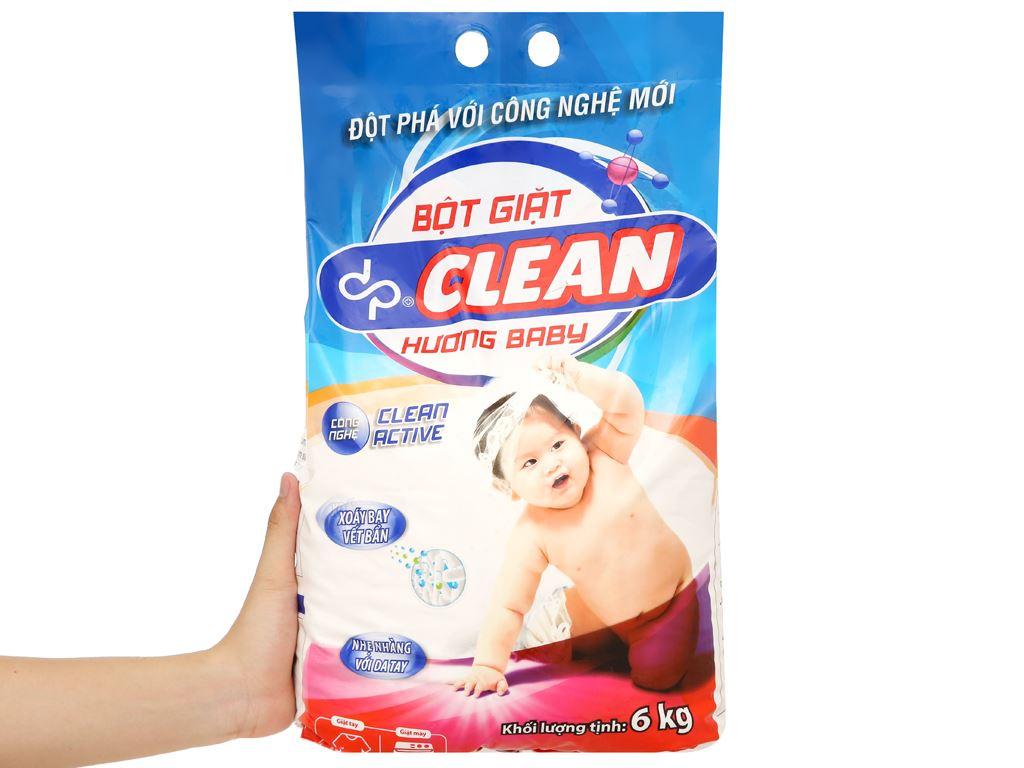 Bột giặt dp CLEAN hương baby 6kg 5