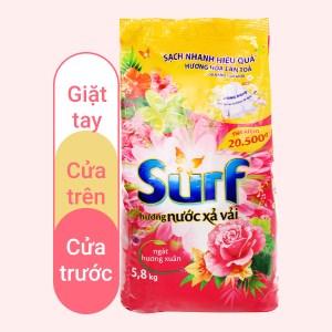 Bột giặt Surf hương nước xả vải gió xuân nồng nàn 5.8kg