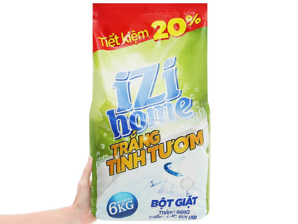 Bột giặt IZI HOME trắng tinh tươm 6kg 6