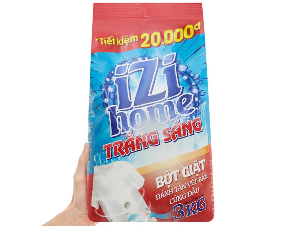 Bột giặt IZI HOME trắng sáng 3kg 8