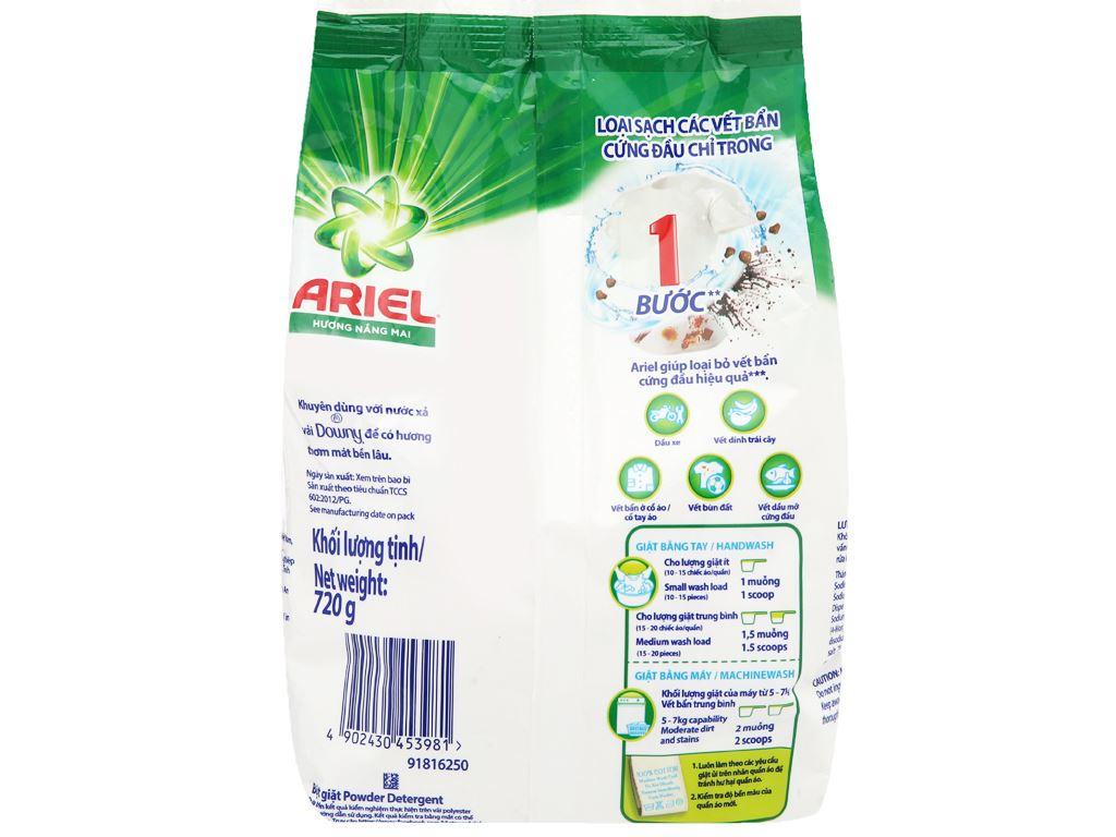 Bột giặt Ariel hương nắng mai 720g 2