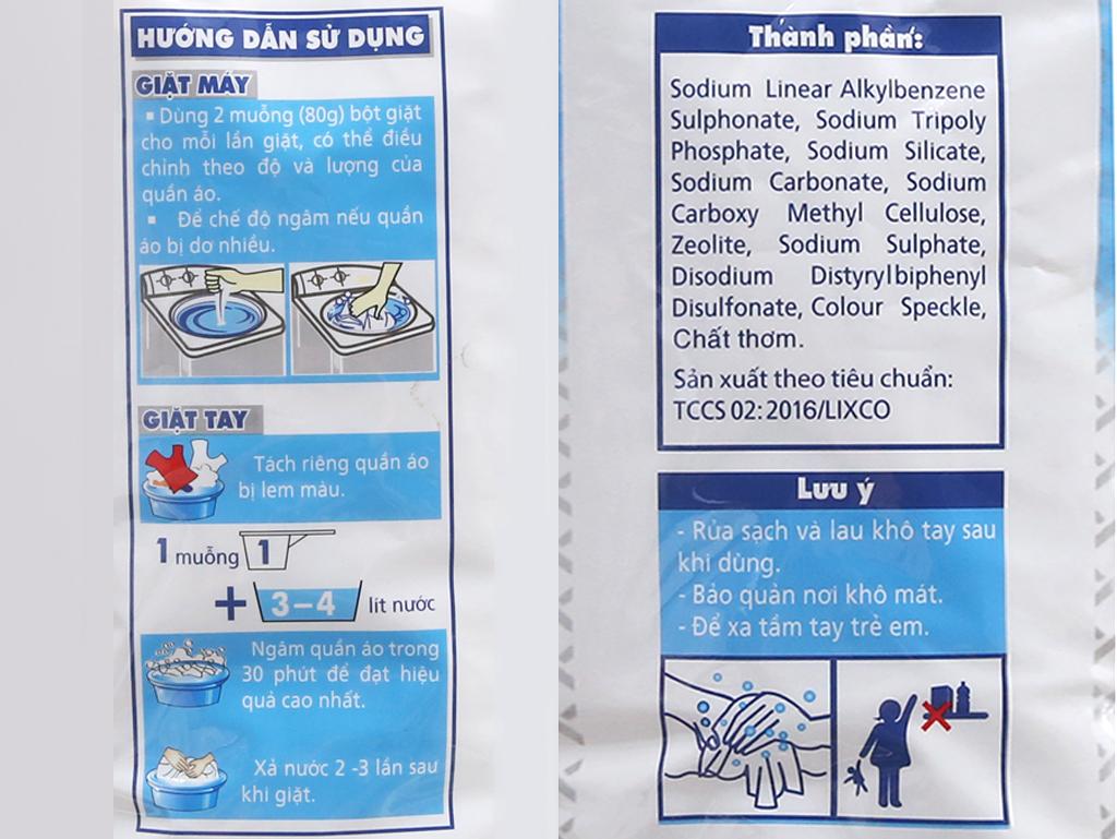 Bột giặt Lix Extra hương Hoa 6kg 4