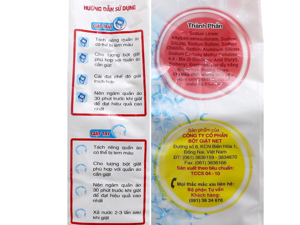 Bột giặt NET Extra Hoa thiên nhiên 6kg 4