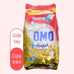 Bột giặt OMO Matic Comfort cửa trên hương tinh dầu thơm sạch bẩn túi 5.5kg