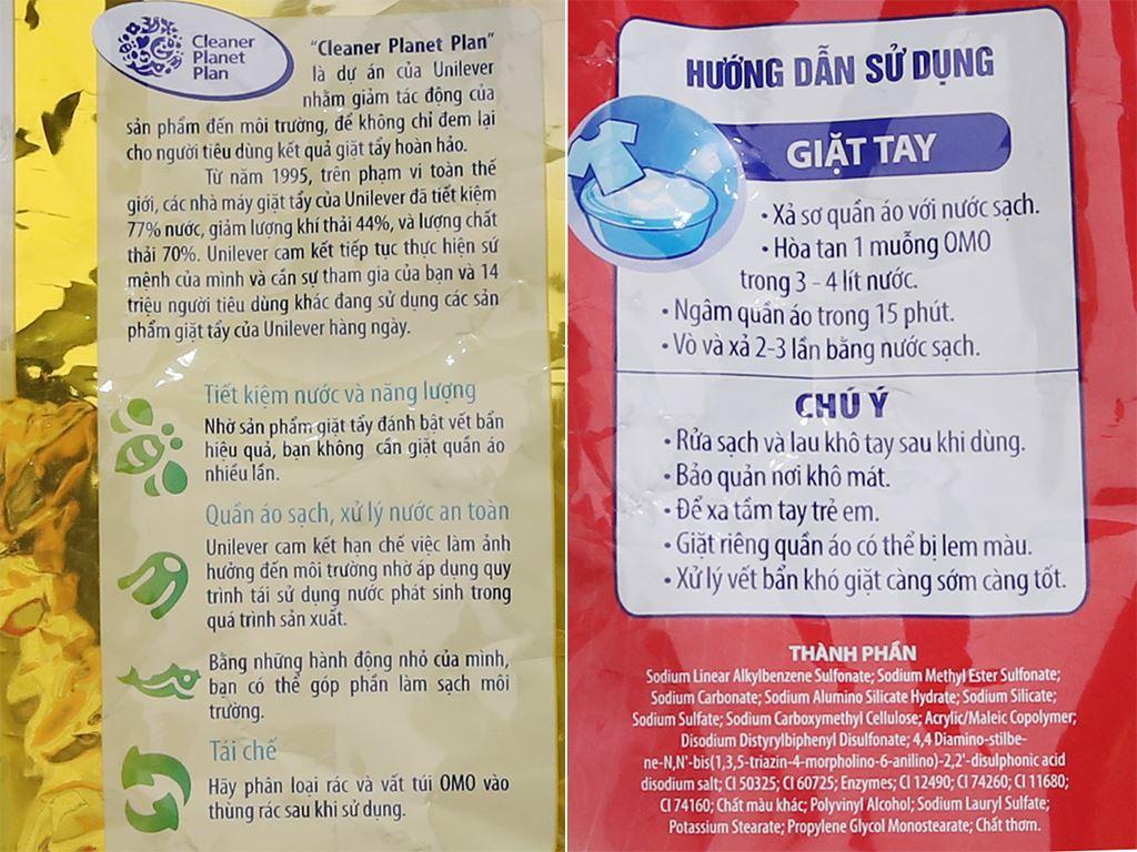 Bột giặt OMO Comfort tinh dầu thơm tinh tế 5.5kg 4