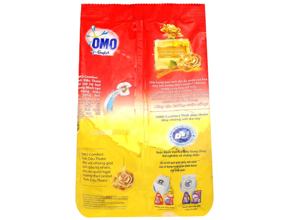 Bột giặt OMO Comfort tinh dầu thơm nồng nàn 4.1kg 2