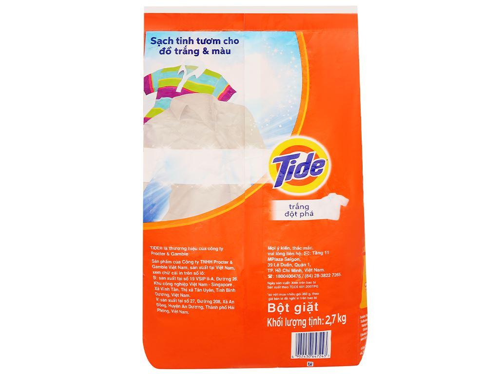 Bột giặt Tide trắng đột phá 2.7kg 2