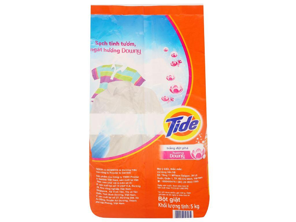 Bột giặt Tide trắng đột phá hương Downy 5kg 2