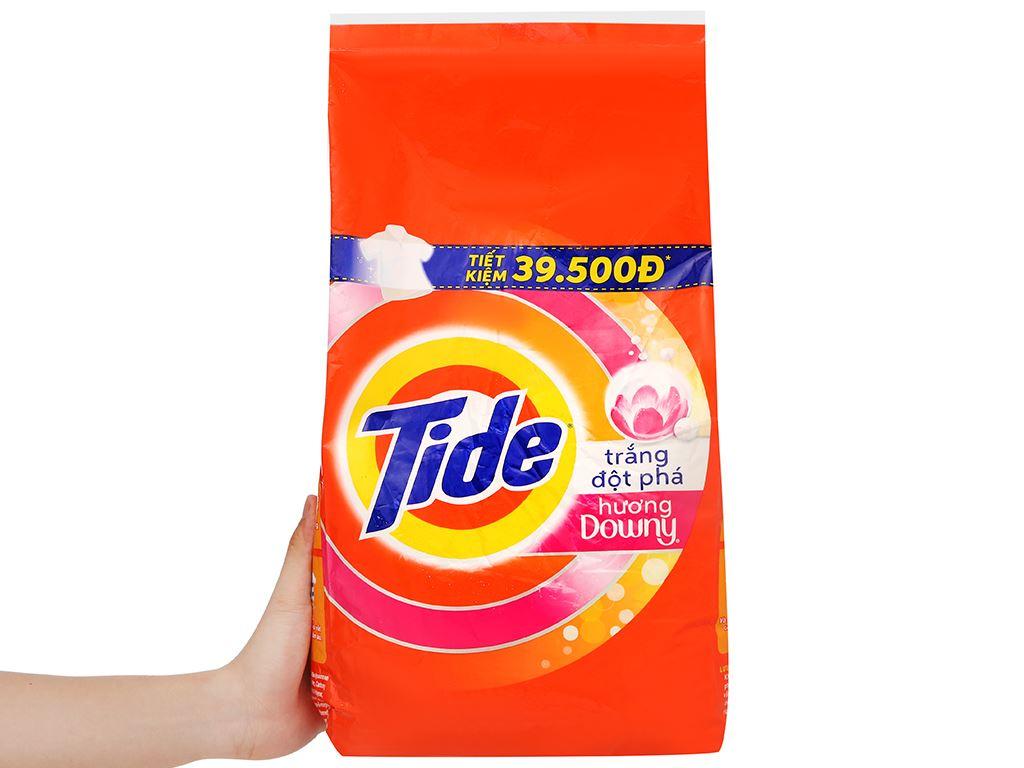 Bột giặt Tide trắng đột phá hương Downy 5kg 6