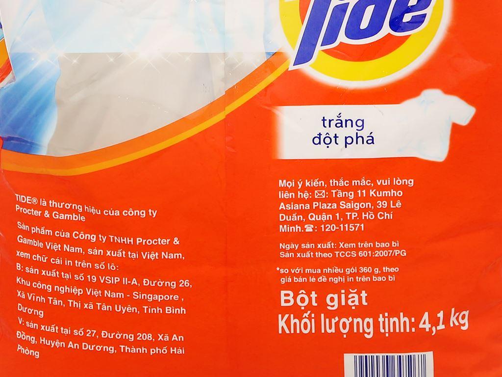 Bột giặt Tide trắng đột phá 4.1kg 6