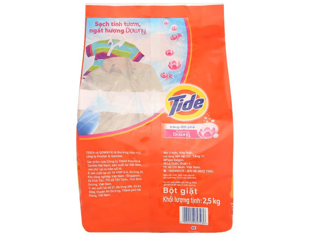 Bột giặt Tide trắng đột phá hương Downy 2.5kg 2