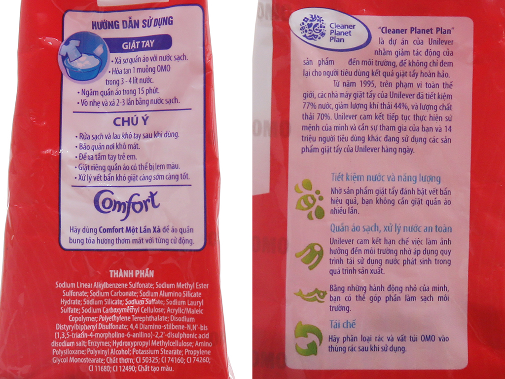 Bột giặt OMO Sạch cực nhanh 400g 5