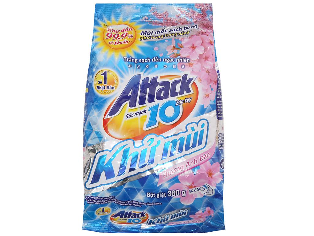 Bột giặt Attack Khử mùi hương Hoa anh đào 360g 2