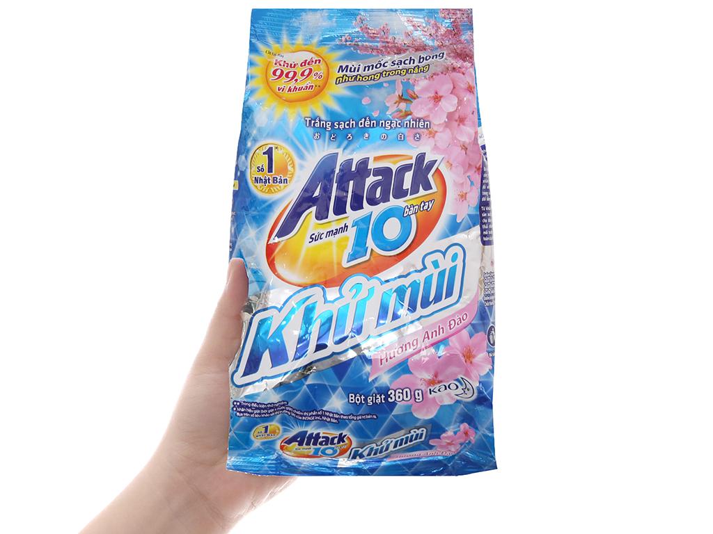 Bột giặt Attack Khử mùi hương Hoa anh đào 360g 4