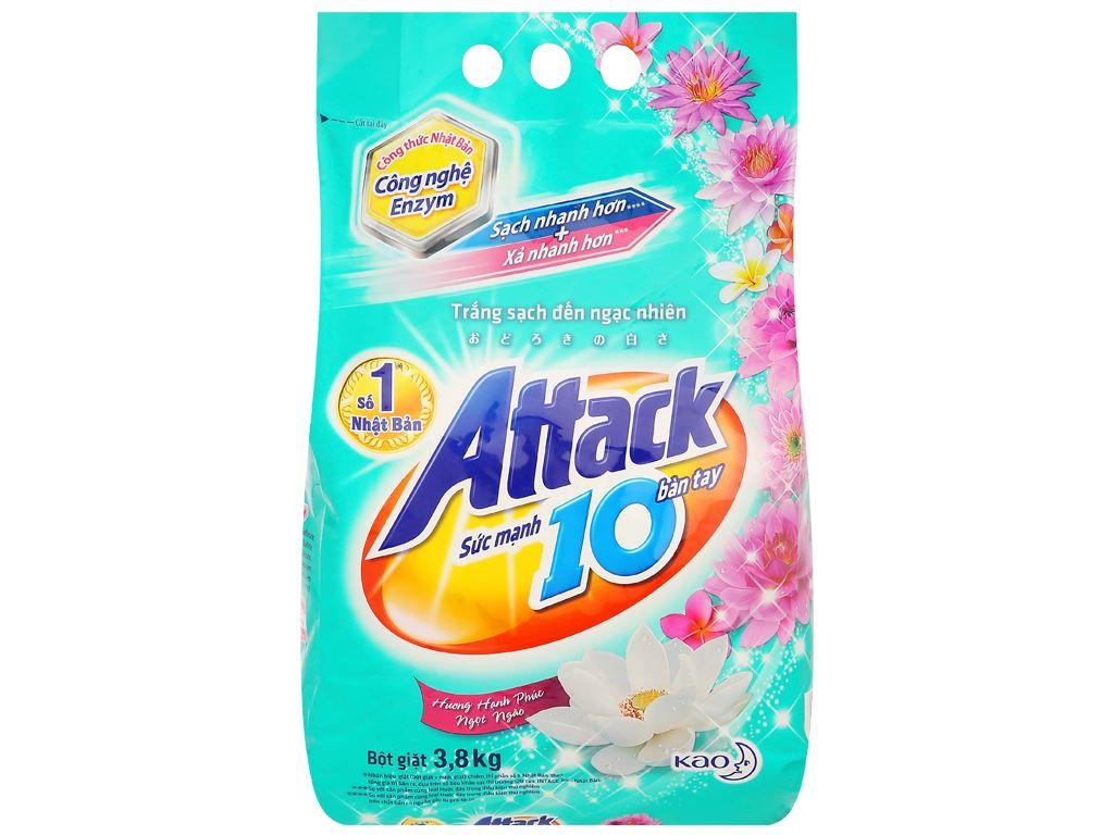 Bột giặt Attack hương hạnh phúc ngọt ngào 3.8kg 1
