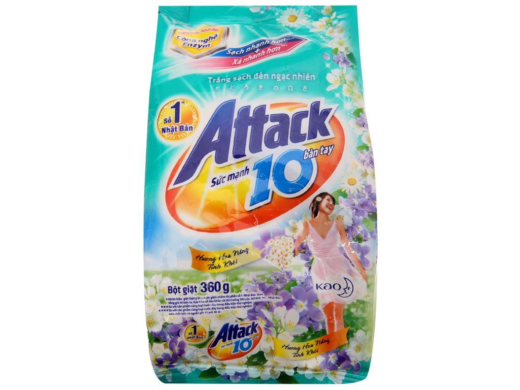 Bột giặt Attack hoa nắng tinh khôi 360g 2