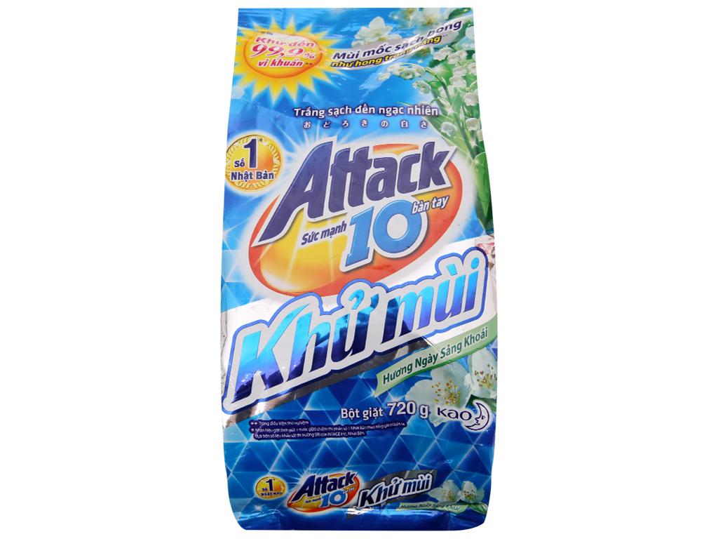 Bột giặt Attack Khử mùi Hương ngày sảng khoái 720g 2